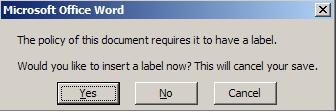 LabelWarning
